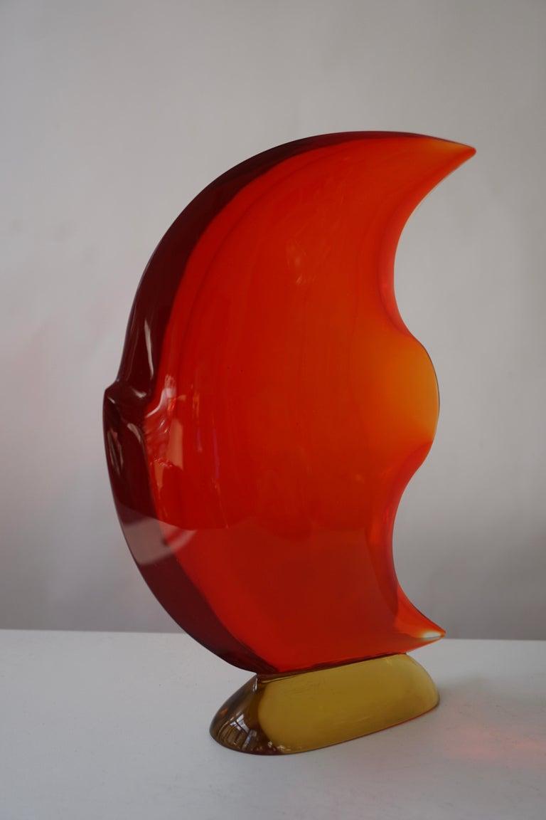 Italian Murano Glass Art Fish Sculpture For Sale 13