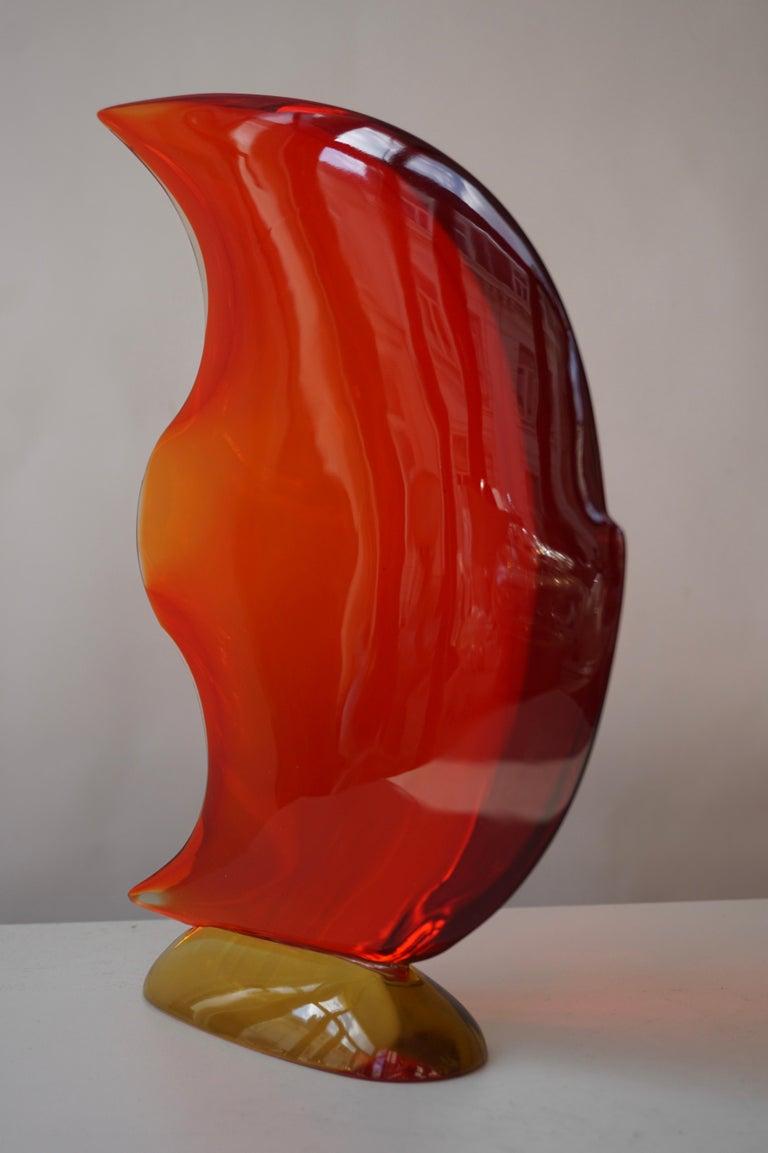 Italian Murano Glass Art Fish Sculpture For Sale 15