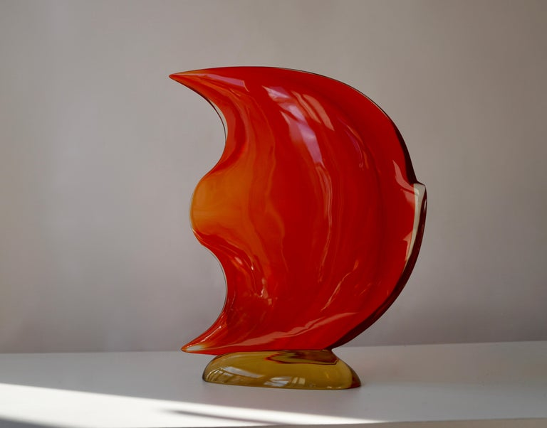 Hollywood Regency Italian Murano Glass Art Fish Sculpture For Sale