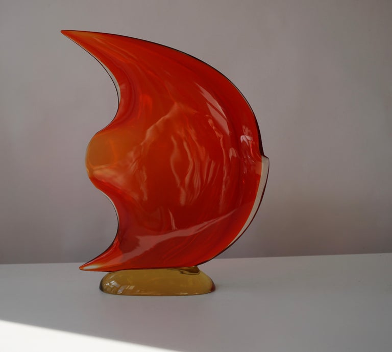Italian Murano Glass Art Fish Sculpture In Good Condition For Sale In Antwerp, BE