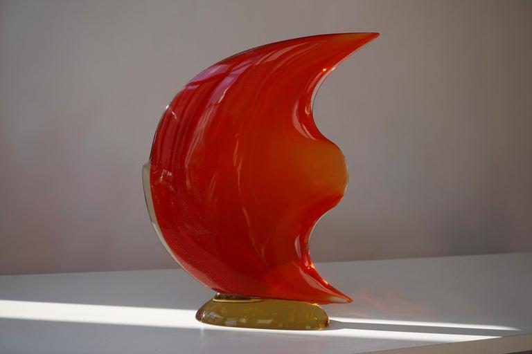 Italian Murano Glass Art Fish Sculpture For Sale 1