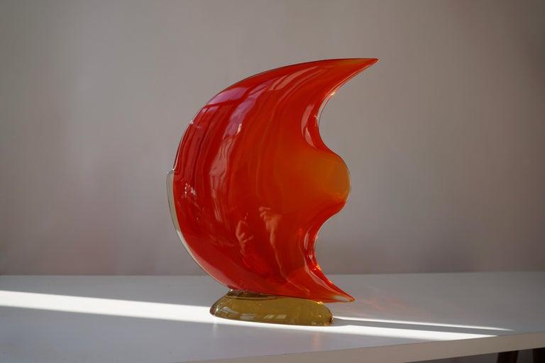 Italian Murano Glass Art Fish Sculpture For Sale 2