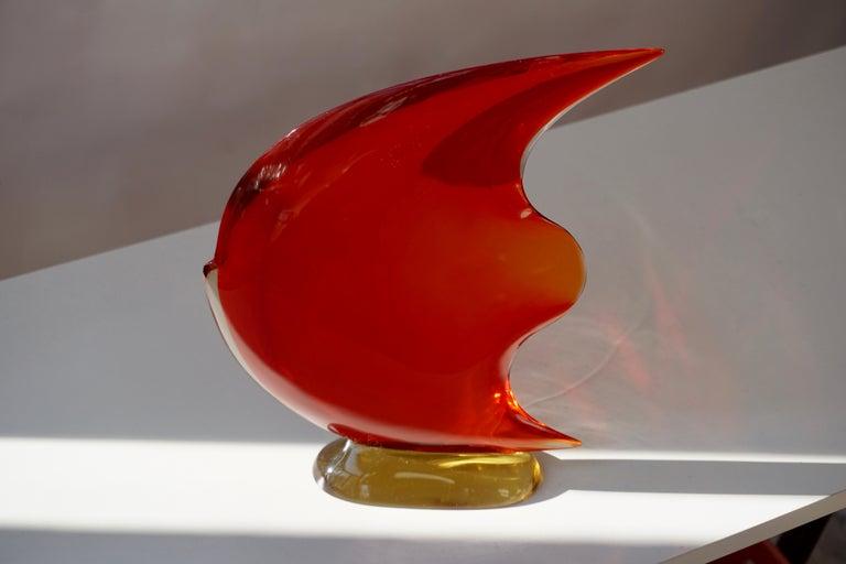 Italian Murano Glass Art Fish Sculpture For Sale 3