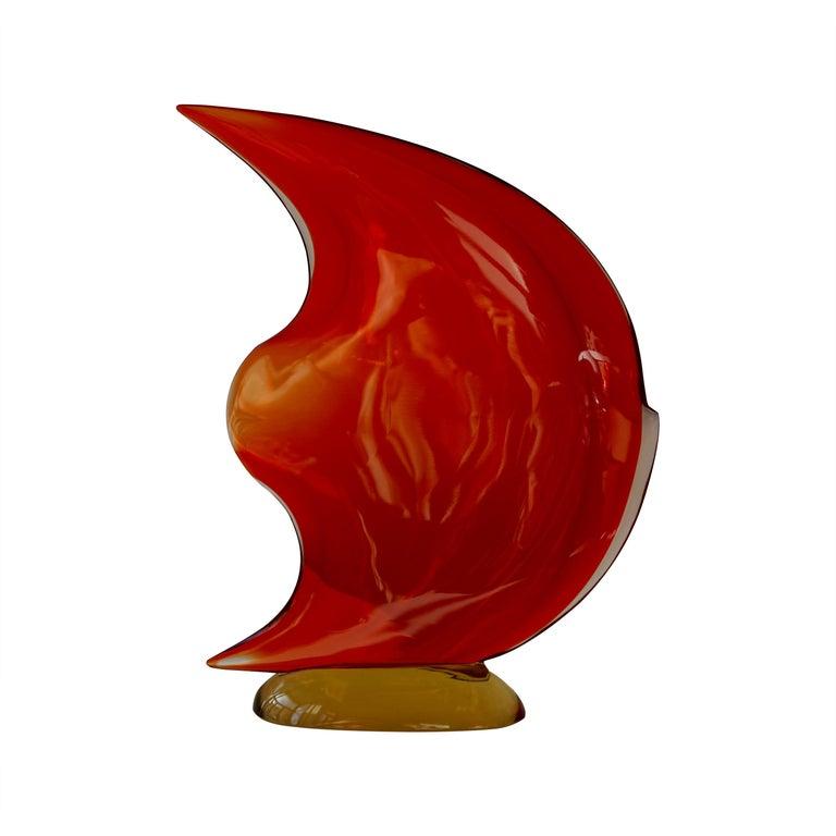 Italian Murano Glass Art Fish Sculpture For Sale