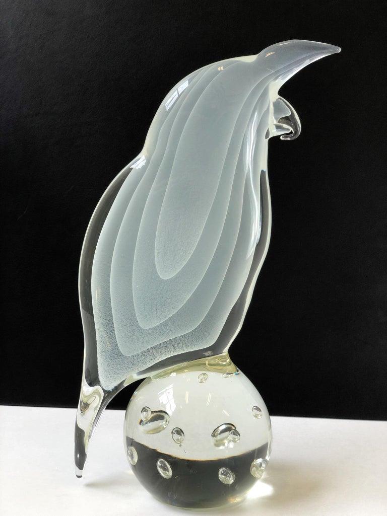 Italian Murano Glass Bird by Licio Zanetti For Sale 6