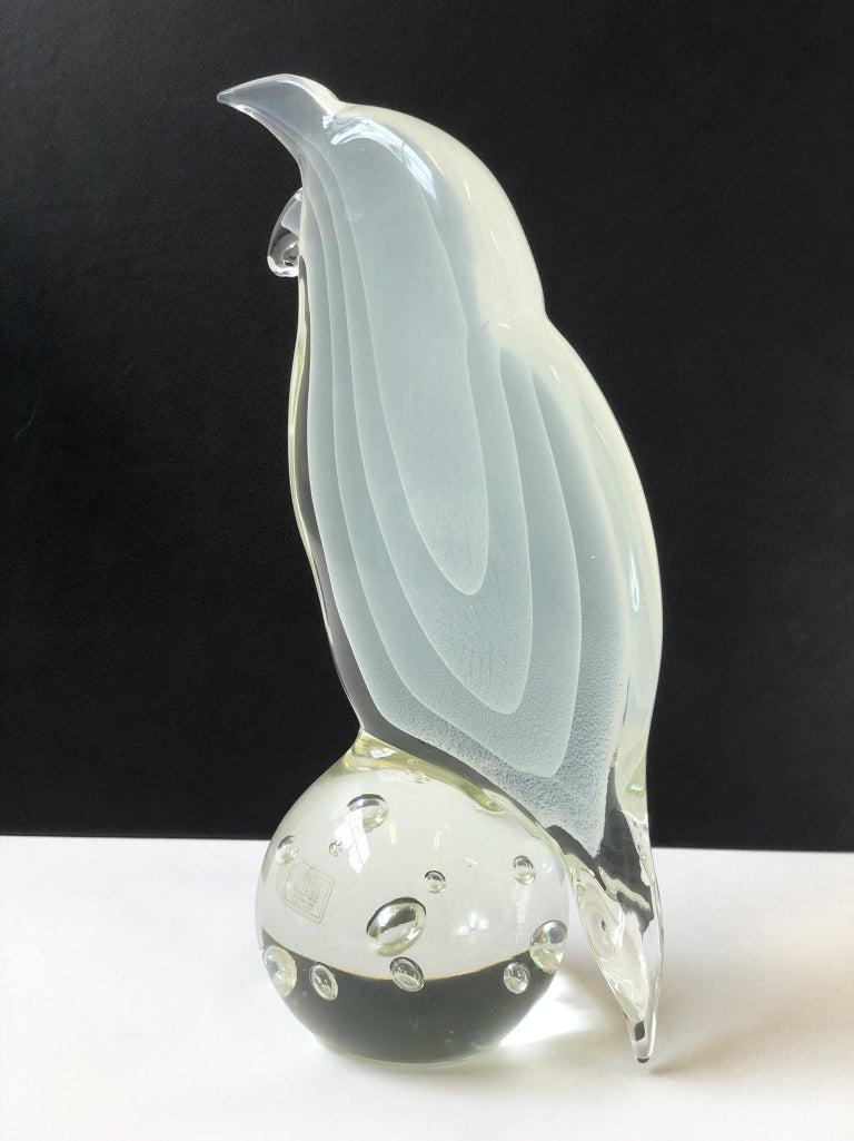 Late 20th Century Italian Murano Glass Bird by Licio Zanetti For Sale