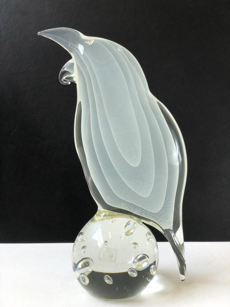 Italian Murano Glass Bird by Licio Zanetti For Sale 1