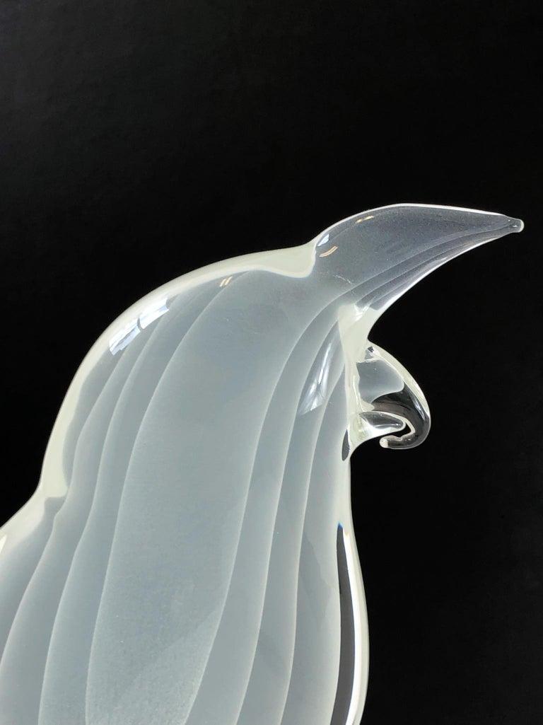 Italian Murano Glass Bird by Licio Zanetti For Sale 4