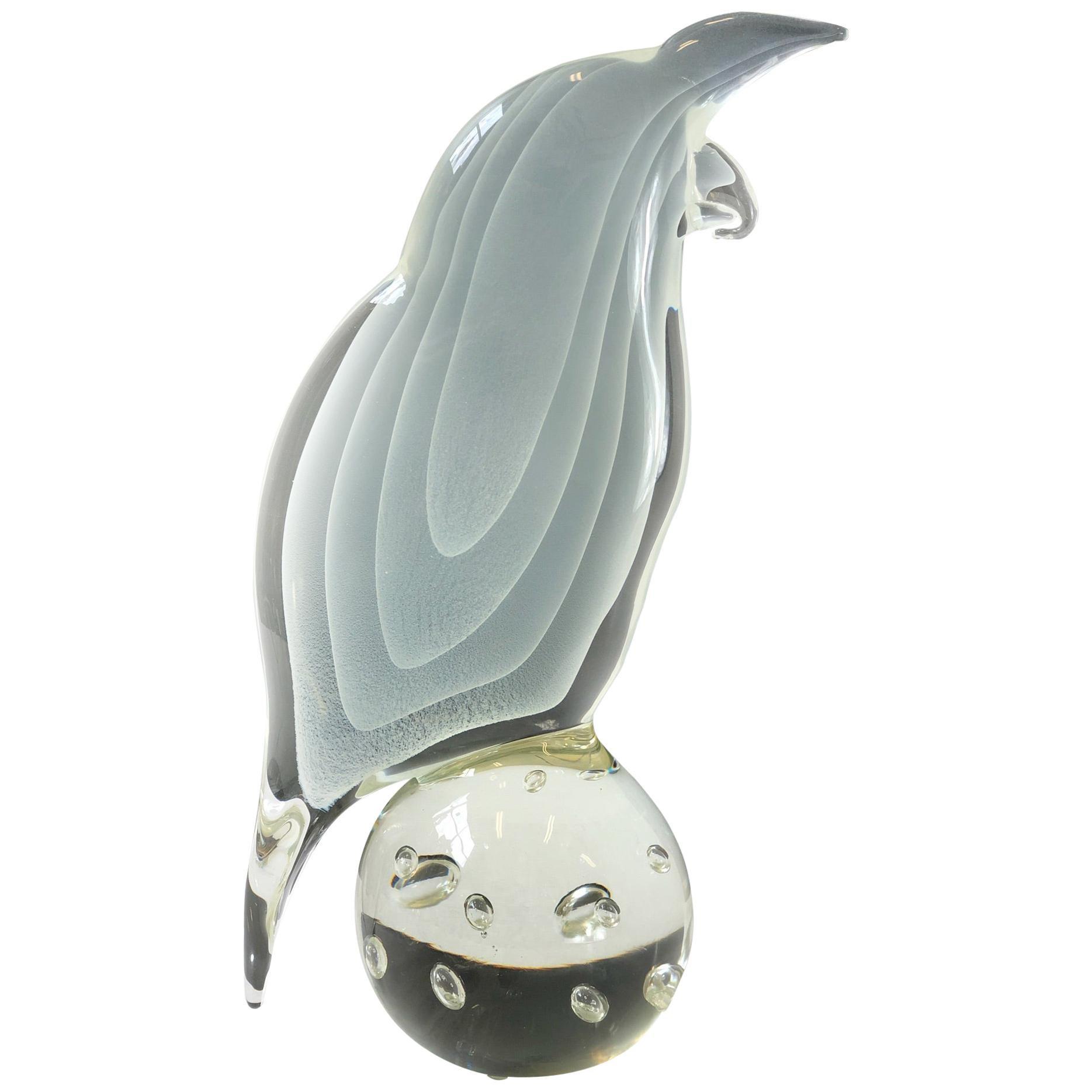 Italian Murano Glass Bird by Licio Zanetti