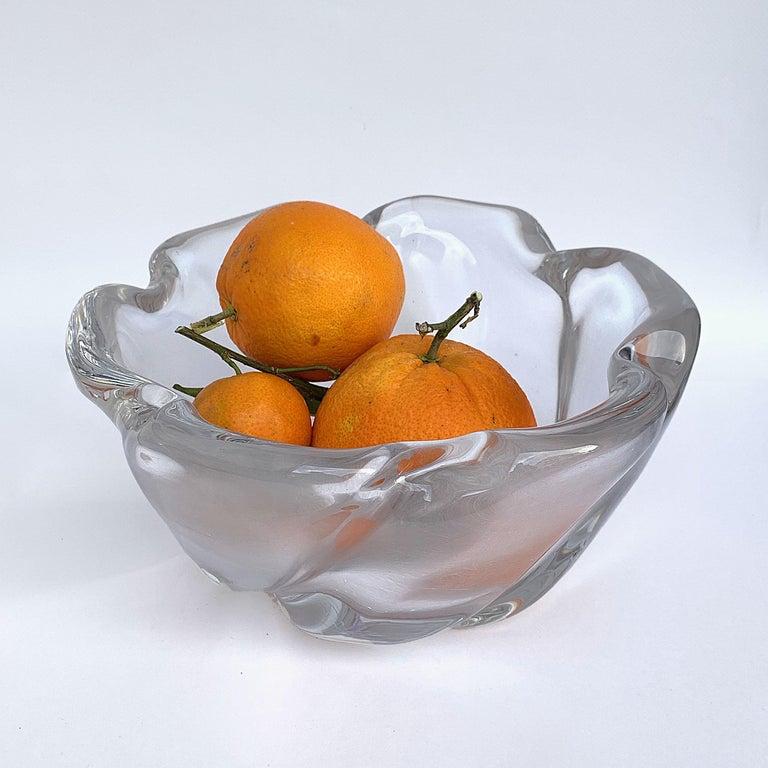 European Italian Murano Glass Bowl Centerpiece, Italy, 1950s For Sale