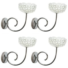 Four Bowl Sconces by Ercole Barovier