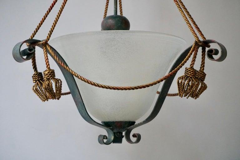 Italian Murano Glass Chandelier For Sale 5