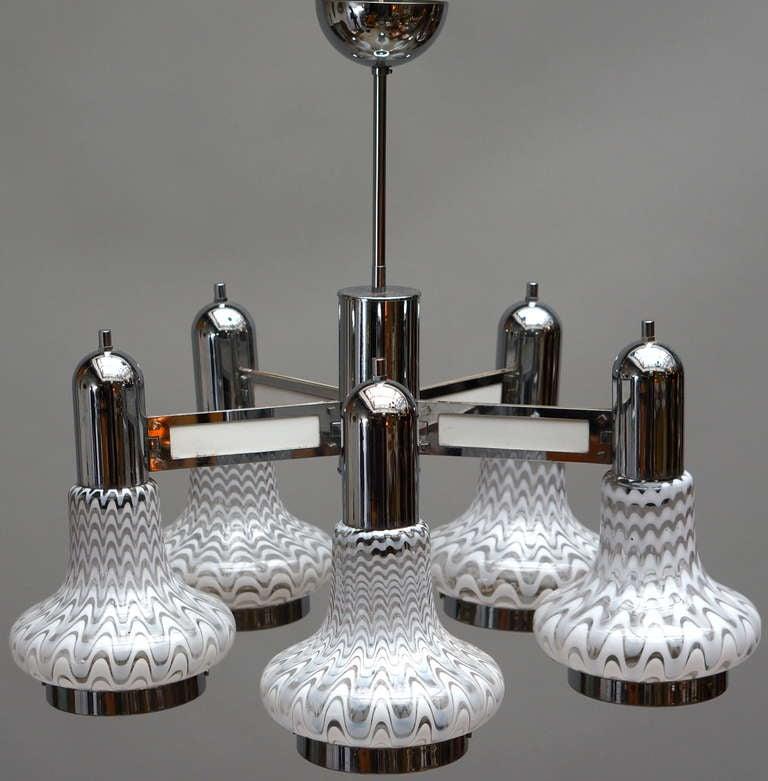 Italian Murano glass chandelier.