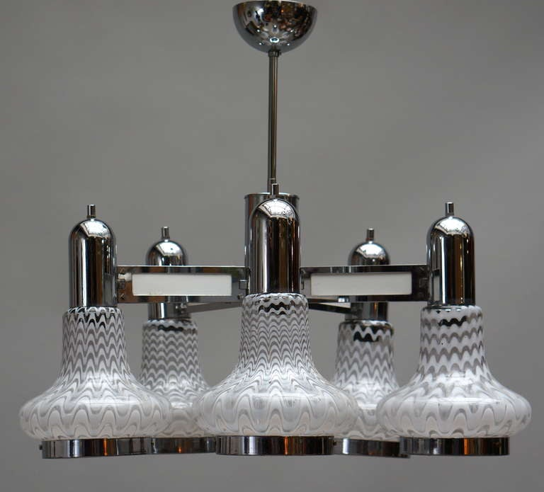 Italian Murano Glass Chandelier In Good Condition For Sale In Antwerp, BE
