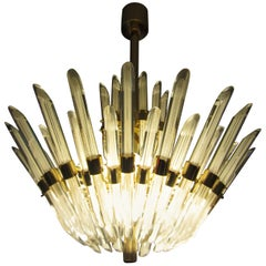 Italian Murano Glass Chandelier from the 1980s
