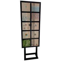 Italian Murano Glass Decorative Panel by Alfredo Barbini, Italy
