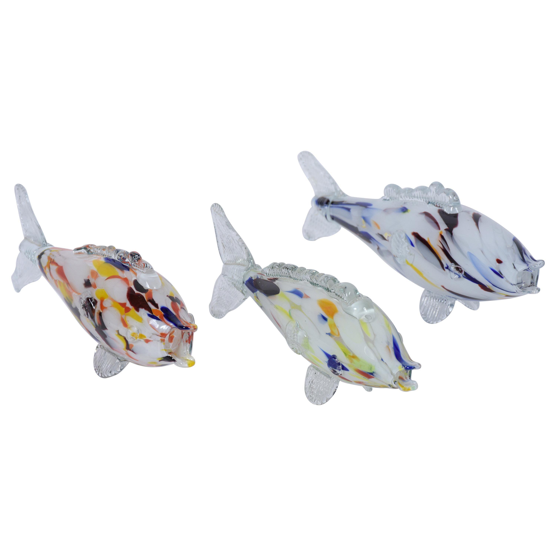Italian Murano Glass Fishes