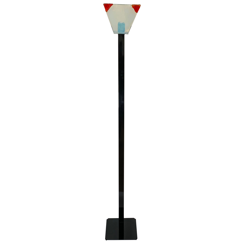 Italian Murano Glass Floor Lamp by Renato Toso for Leucos