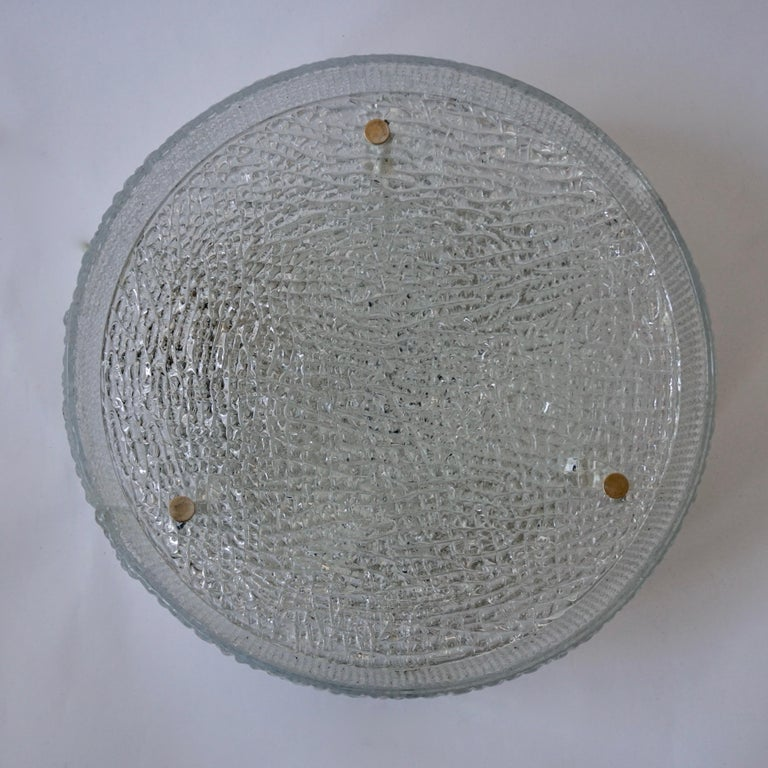 Italian Murano Glass Flushmount Light In Good Condition For Sale In Antwerp, BE