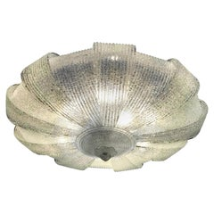 Italian Murano Glass Leaves Modern Flushmount or Ceiling Light