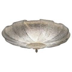 Italian Murano Glass Leaves Modern Flushmount or Ceiling Light