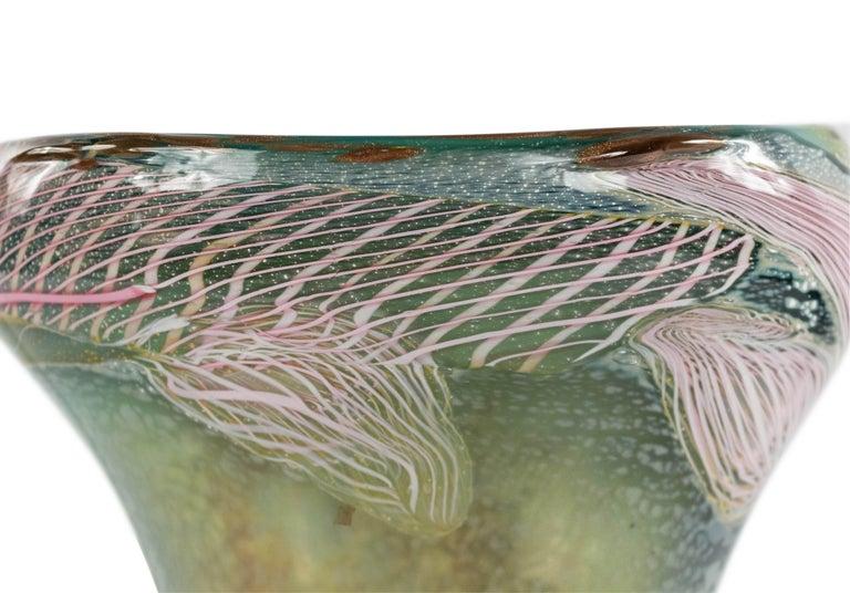 Italian Murano Glass Nichetto Table Lamp In Good Condition For Sale In New York, NY