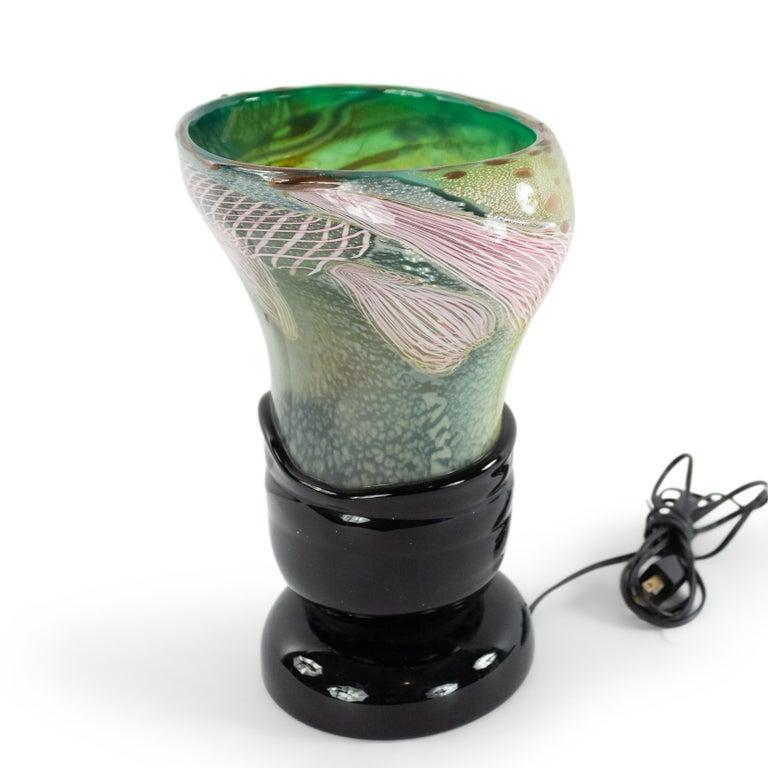 20th Century Italian Murano Glass Nichetto Table Lamp For Sale