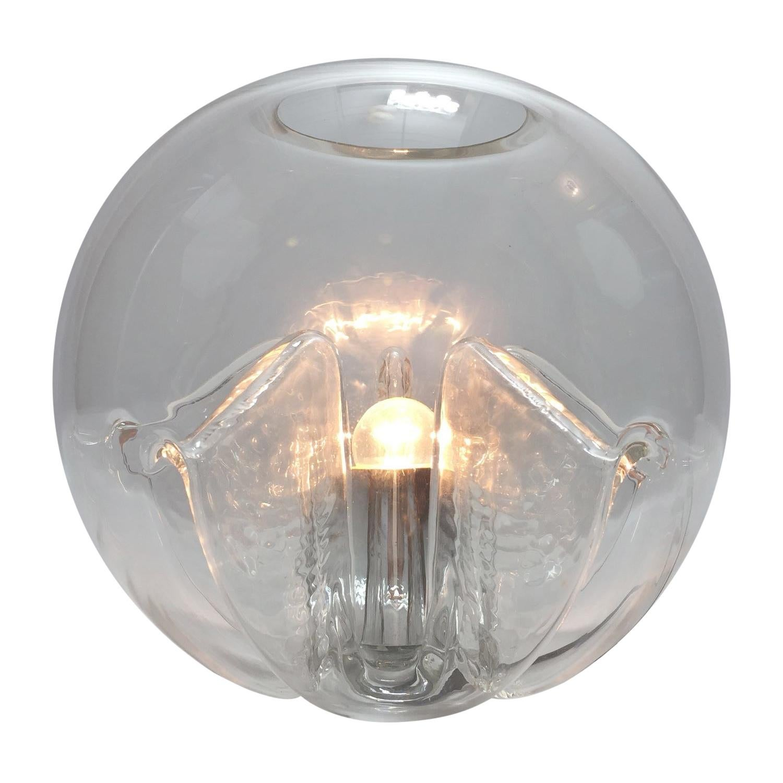 Italian Murano Glass Nuphar Lamp by Toni Zuccheri for VeArt, 1970s