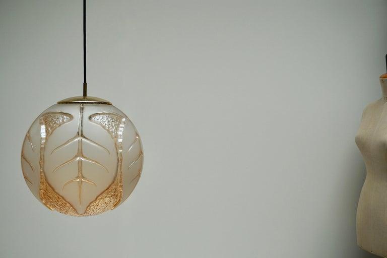 Hollywood Regency Italian Murano Glass Pendant Light For Sale