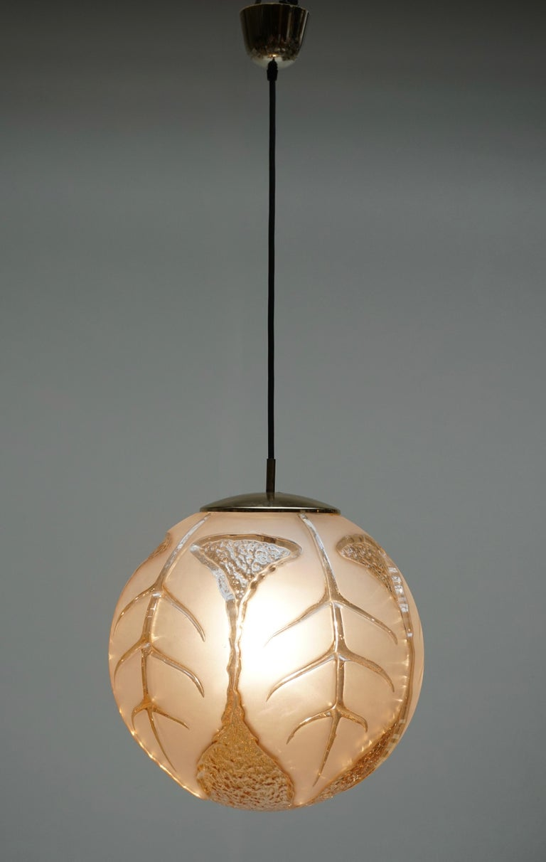 Italian Murano Glass Pendant Light For Sale 1