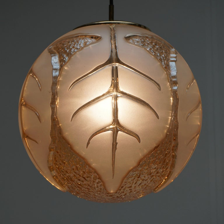 Italian Murano Glass Pendant Light For Sale 2