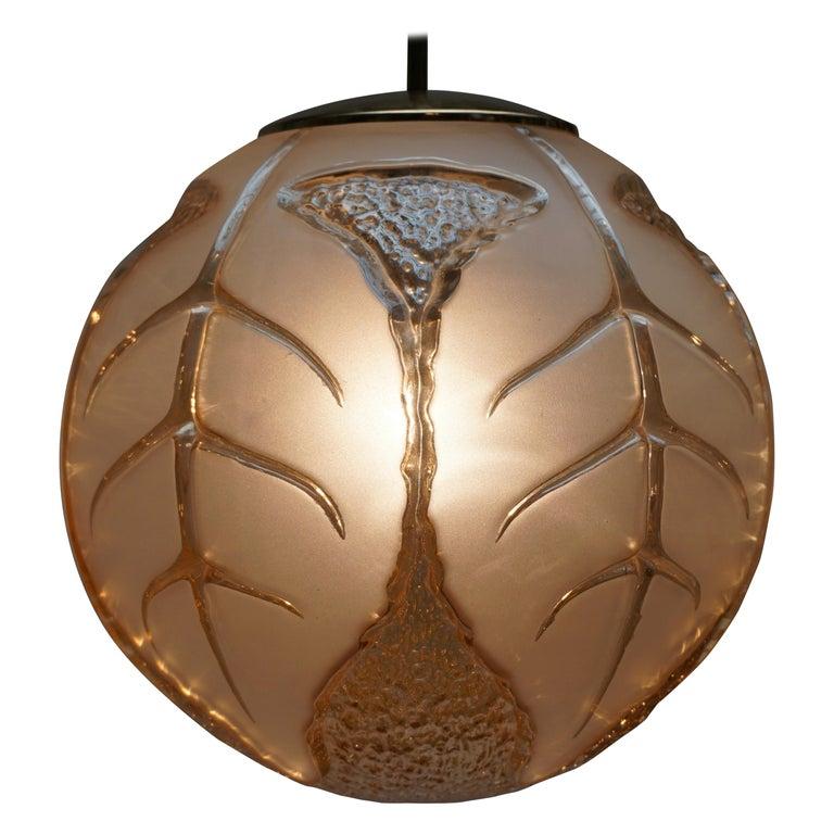 Italian Murano Glass Pendant Light For Sale