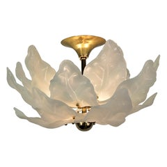 Italian Murano Glass Semi Flush Mount Chandelier