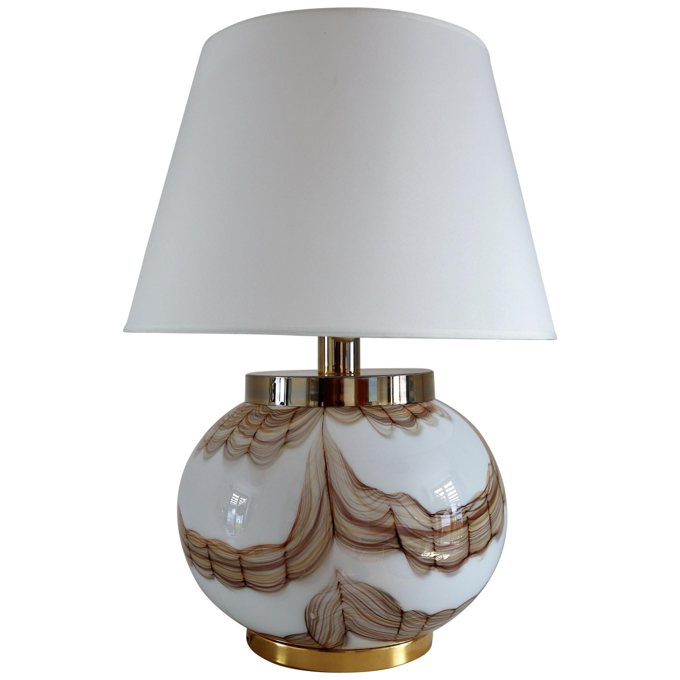 Italian Murano Glass Table Lamp, 1970s
