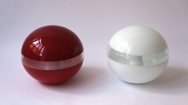 Mid-20th Century Italian Murano Glass Table Lamp Designed by Carlo Nason for Mazzega For Sale