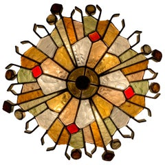 Italian Murano Glass Wall lamp by Longobard