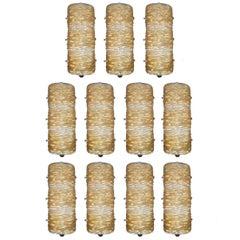 Eleven Gold Bauletto Sconces / Flush Mounts FINAL CLEARANCE SALE