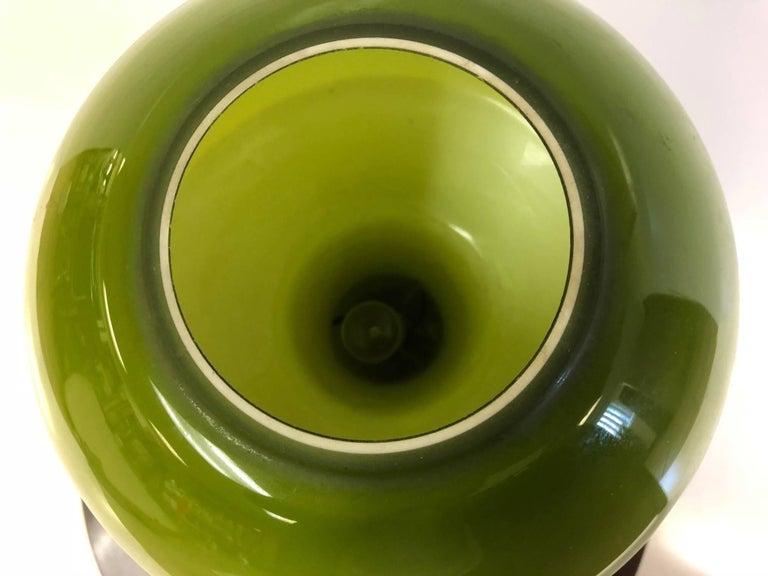 Mid-Century Modern Italian Murano Green Glass Lamp For Sale
