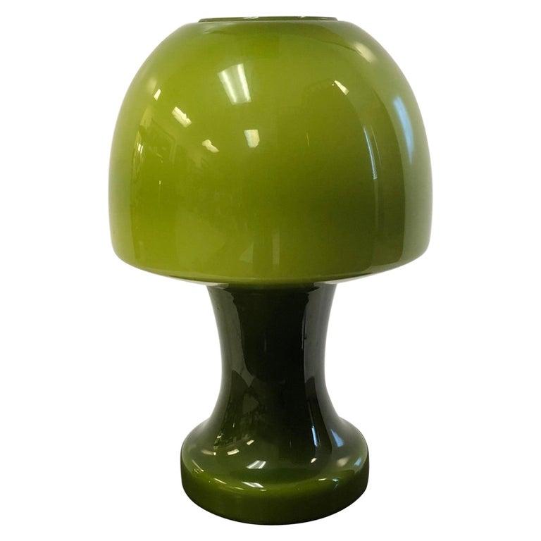 Italian Murano Green Glass Lamp For Sale