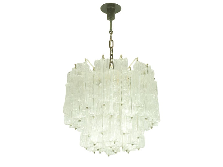 20th Century Italian Murano Handmade Glass Chandelier by Toni Zuccheri for Venini, 1960s For Sale