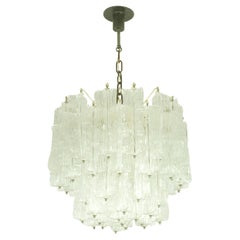 Italian Murano Handmade Glass Chandelier by Toni Zuccheri for Venini, 1960s