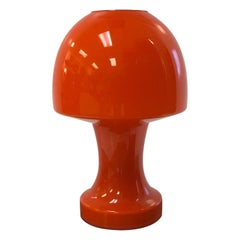 Italian Murano Orange Glass Lamp