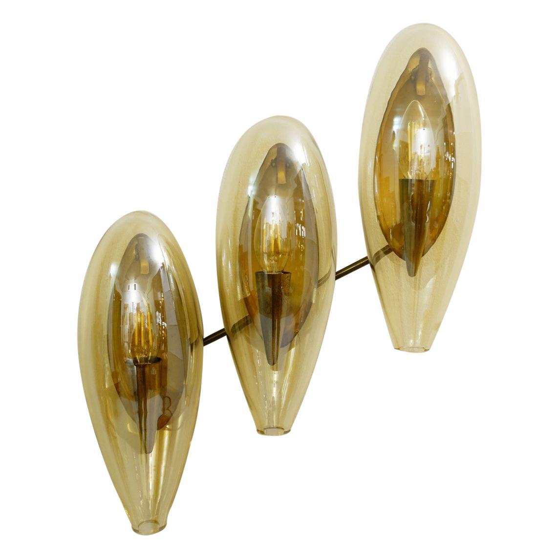 Italian Murano Smoked Glass Sconce