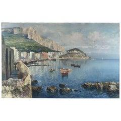Italian Neapolitan Coastal Marine Landscape by Fausto Pratella 1920 Napoli