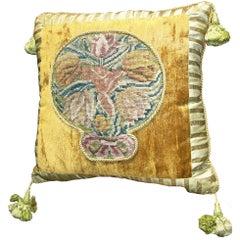 Italian Needlepoint Pillow 18th Century 1555p