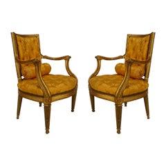 Italian Neoclassic Gold Armchairs