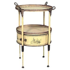 Italian Neo-Classic Painted Tole Tray End Table