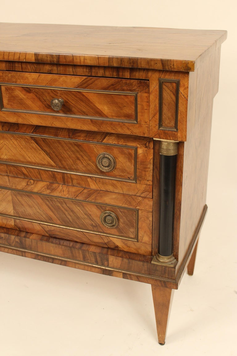 Italian Neoclassical Chest of Drawers For Sale 2