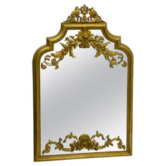 Italian Neo-Classical Style Carved Giltwood and Terracotta Mirror