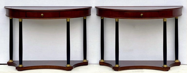 Neoclassical Italian Neo-Classical Style Console Tables by Decorative Crafts, a Pair For Sale